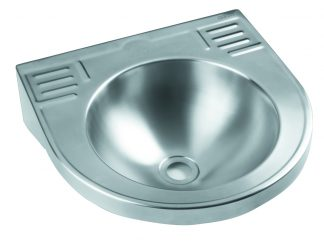 Väggmonterat tvättställ i rostfritt stål (AISI 304) - Kompakt