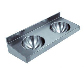 Väggmonterat tvättställ i rostfritt stål (AISI 304) - 2 eller 3 st i rad
