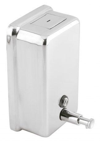 Tvåldispenser med knapp i rostfritt stål (AISI 304) - Vertikal