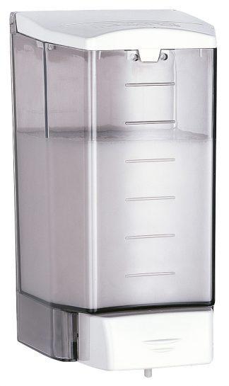 Tvåldispenser med knapp i rostfritt stål (AISI 304) - Plast