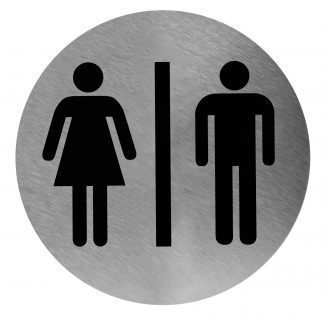 Unisex toalettskylt