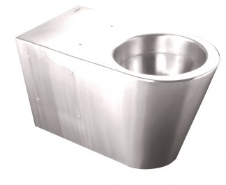 Toalett i rostfritt stål