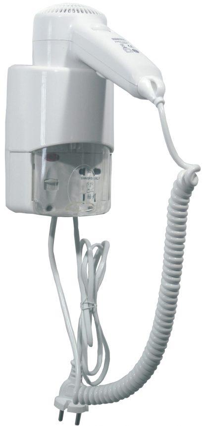 Hårfön anpassad för intensiv användning - Med strömuttag för rakapparat