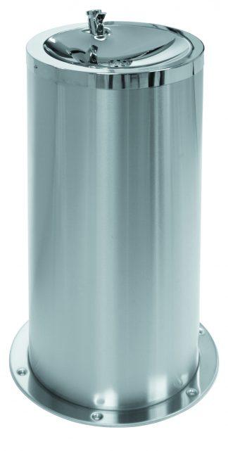 Golvmonterad dricksfontän i rostfritt stål (AISI 304)