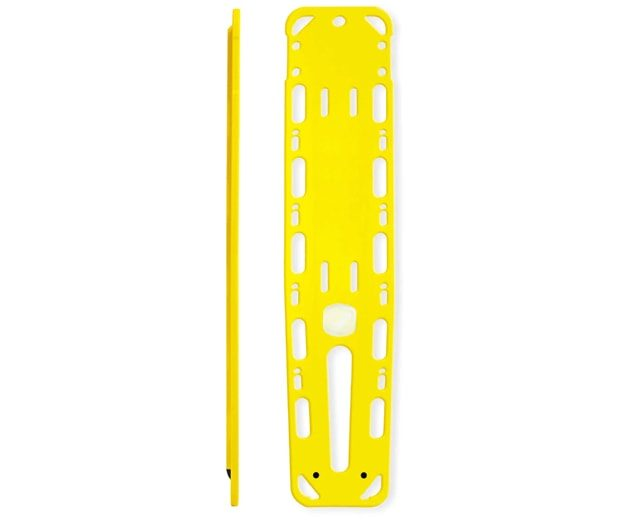 Ultra thin spinal board with pins