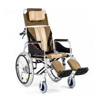 Hopfällbar rullstol B1 med aluminiumram - Vårdarbroms