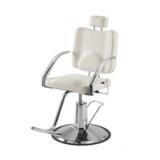 Sadelstol med ovalt ryggstöd i elegant design med kromad ram