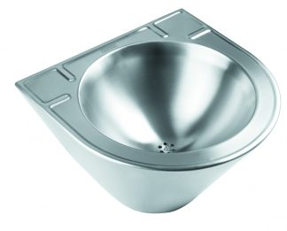 Wall mounted wash basin in stainless steel (AISI 304) - Polyurethane injection