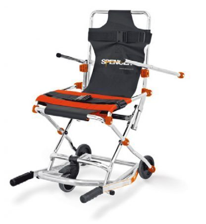 Evakueringsstol med 3 hjul för transport – Kompakt och hopfällbar
