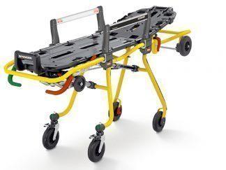 Självlastande ambulansbår med anpassningsbar höjd