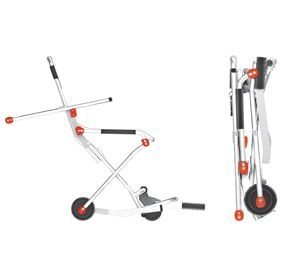 Evakueringsstol med 2 eller 4 hjul – Kompakt och hopfällbar