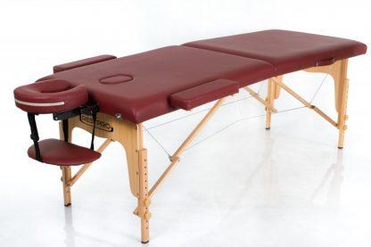 Vinröd massagebänk