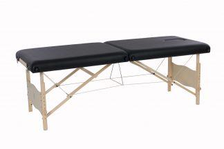 Portabel massagebänk i trä - 2-delad - 184 x 72 cm - Justerbar höjd