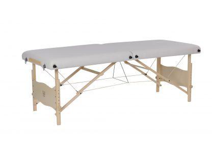 Hopfällbar massagebänk i trä - 2-delad - 184 x 72 cm - Justerbar höjd