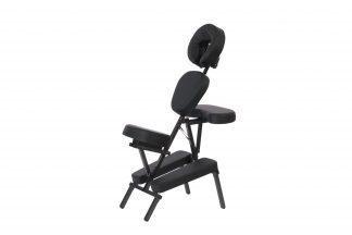 Multifunktionell massagestol i aluminium - Ram och klädsel i svart
