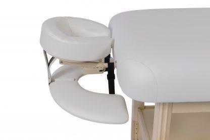 2-delad massagebänk i trä - Reglerbar höjd