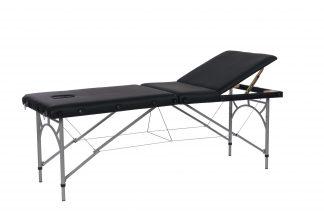 Hopfällbar massagebänk med aluminiumram - 3-delad - 184 x 71 cm