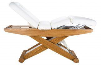 Exklusiv elektrisk massagesäng i trä med saxunderrede - 4-delad