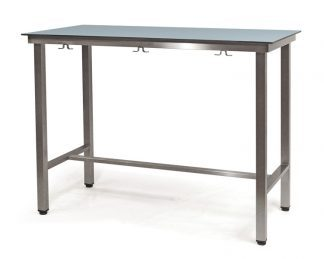 Demountable examination table with HPL on compact laminate top