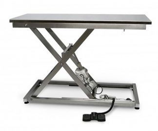Elektrisk undersökningsbänk för djur i rostfritt stål
