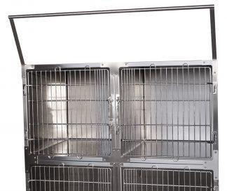 Hållare för flaskor i rostfritt stål - För montering på bur - Stödhandtag