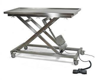 Elektriskt operationsbord för veterinärer med saxlift (X-format) och platt yta