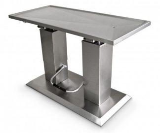 Hydrauliskt operationsbord för djur med platt yta - Dubbla liftpelare