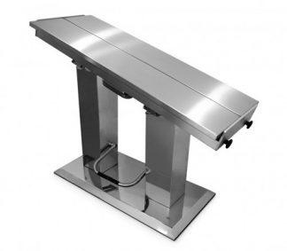 Hydrauliskt operationsbord för veterinärer med V-formad bordsyta - Dubbla liftpelare