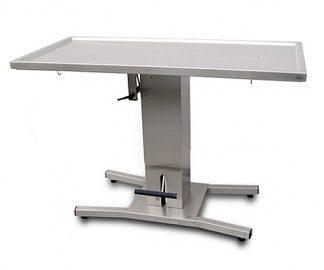 Hydrauliskt operationsbord för djur med platt bordsyta - Central kolumnpelare