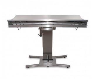 Hydrauliskt operationsbord för djur med V-formad bordsyta - Central kolumnpelare