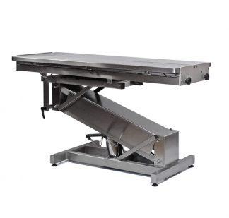 Hydrauliskt operationsbord för djur i rostfritt stål med Z-formad struktur och V-formad toppyta