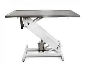 Hydraulic surgery table with lacquered Z structure and flat top