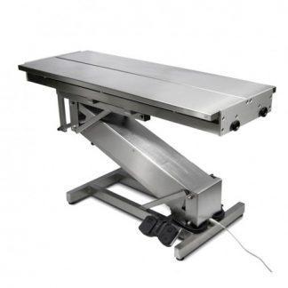 Elektriskt operationsbord för djur med Z-formad bas och V-formad toppyta