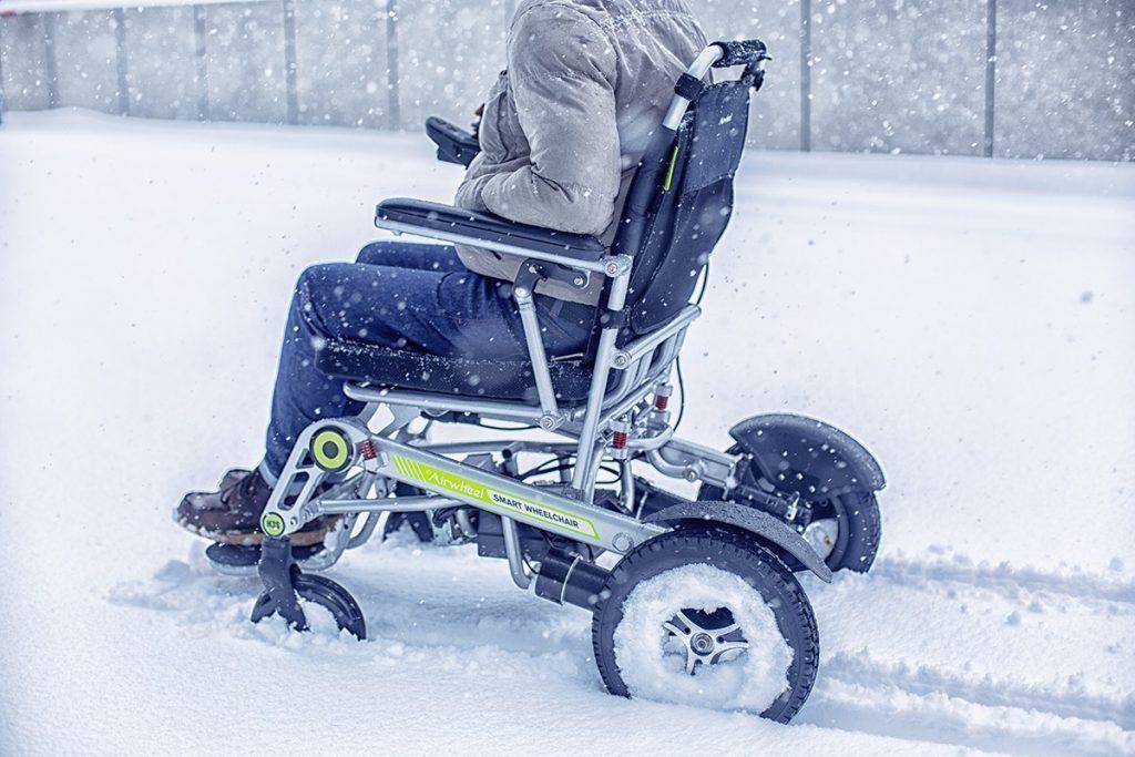 Airwheel h3s körs i snön