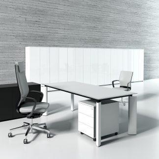 Crystal - Skrivbord, skåp och runt bord
