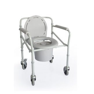 Folding Commode chair with wheels