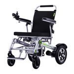 Foldable wheelchair in aluminum with attendant brakes - B1