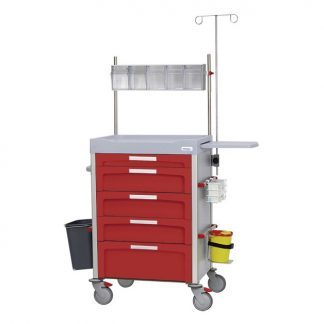 Configurable hospital trolley