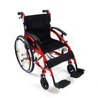 Lätt rullstol med aluminiumram - Endast 13,7 kg - Hopfällbar