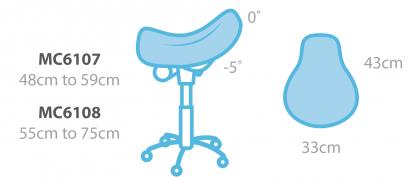 Lyxig ergonomisk sadelstol (Hög)