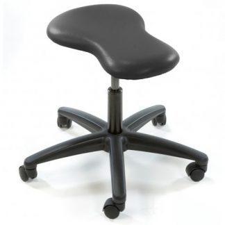 Ergonomisk nyckelhålsformad stol (Svart bas)