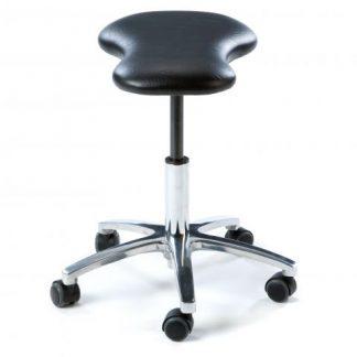 Ergonomisk nyckelhålsformad stol (Krom bas)