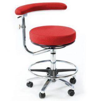 Multifunktionell arbetsstol med en 360° roterbar arm (Hög)