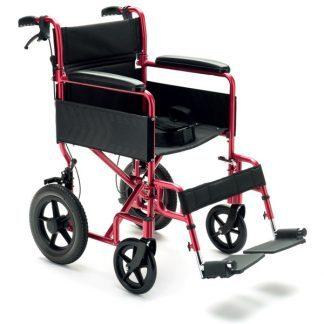 Mycket lättviktig transportrullstol med 12 tums hjul bak - Aluminium