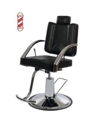 Fällbar roterande stylingstol utrustad med fotstöd- Platy
