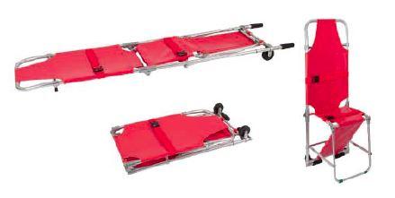 Sjukbår som kan vikas till en stol - Lätt i vikt - 2 hjul