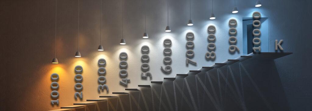 Lampor, temperaturer och sken